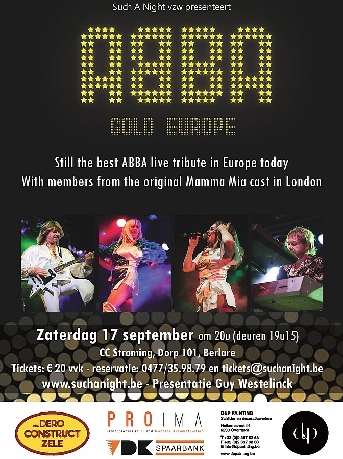 Flyer Abba Gold Europe @ Such A Night