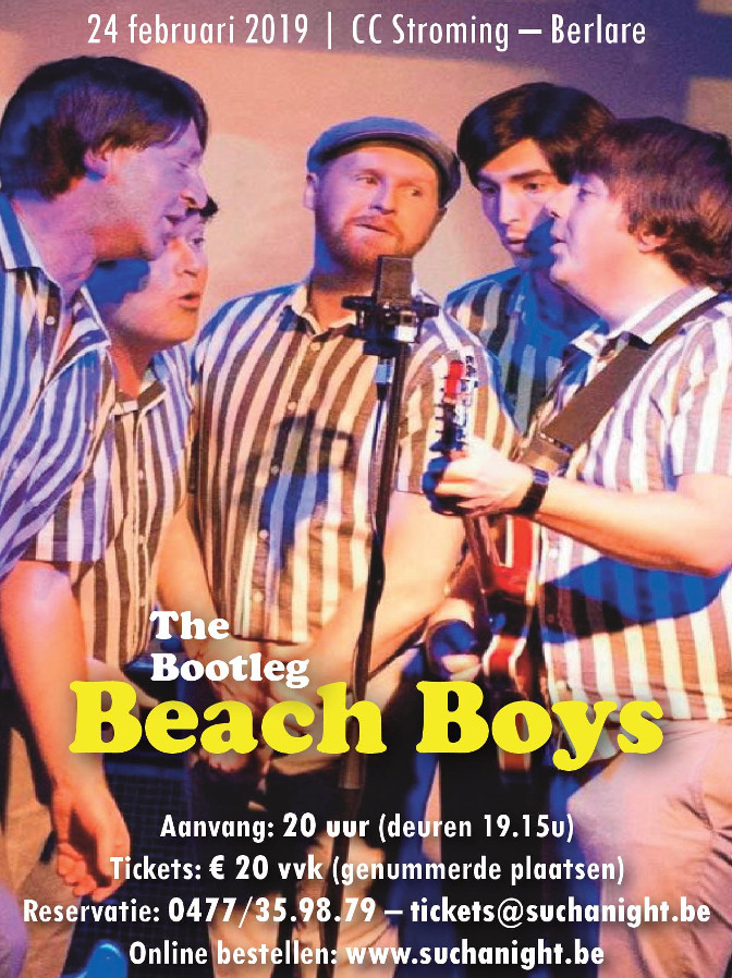 The Bootleg Beach Boys bij Such A Night in het Cultureel Centrum Stroming van Berlare.
