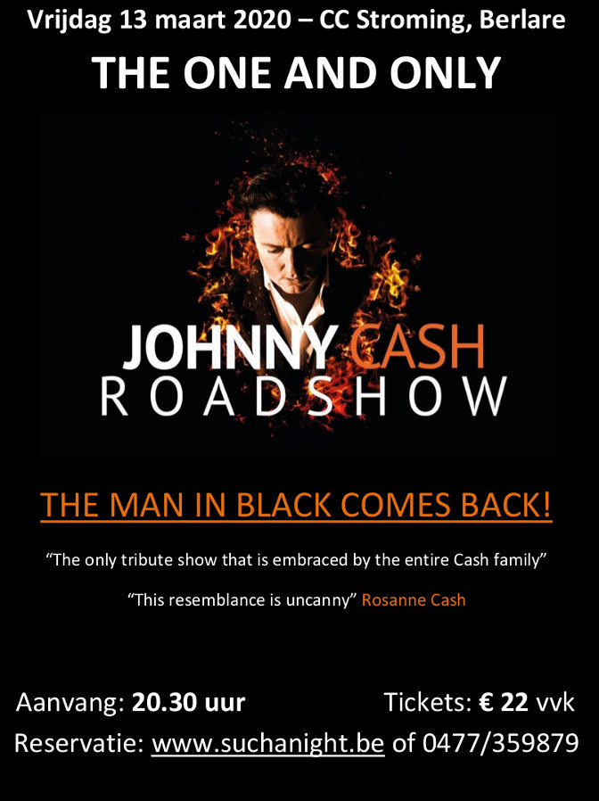 The Johnny Cash Roadshow @Such A Night in het CC Stroming van Berlare