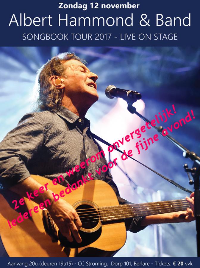 Albert Hammond Song Book Tour in CC Stroming in België, een organisatie van Such A Night